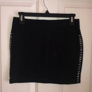 H&M Black Skirt with Silver Embellishments